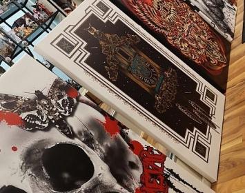 La Catrina Canvas and Skull Canvas Designs
