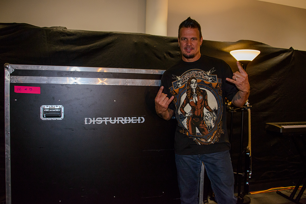 Dan Donegan Disturbed wears Barmetal clothing