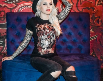 Alecia Mixi Demner of Stitched Up Heart wears Barmetal